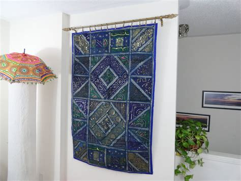 Ethnic Wall Tapestry Home Decor Idea Blue Ganges
