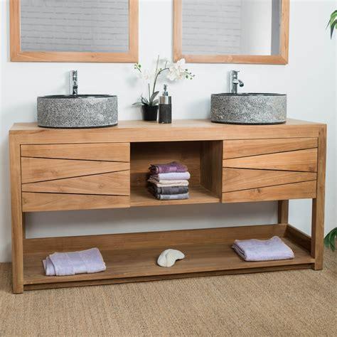 eco cuisine salle de bain meuble sous vasque vasque en bois teck massif
