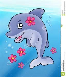 Cute Dolphin Clip Art