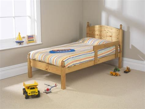 Small Single Bed by Friendship Mill Football 2ft6 Small Single Pine Wooden Bed