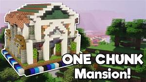 Minecraft Mansion In ONE CHUNK Tutorial YouTube