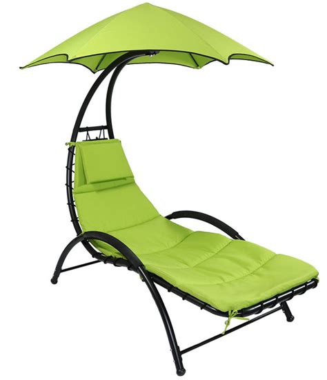 sunnydaze chaise lounge chair with canopy and removable