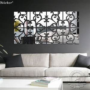 Diy lot set d home decoration acrylic mirror wall