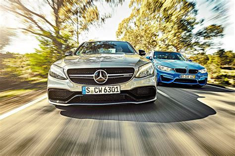 mercedes amg   bmw  twin test review  car