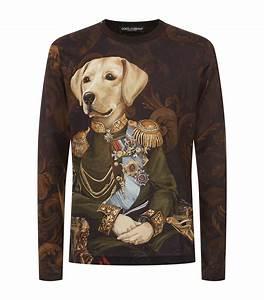 dolce gabbana long sleeved dog t shirt