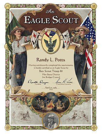 custom scout certificates