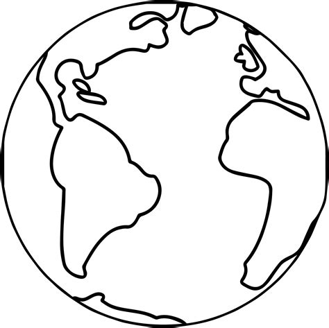 earth template earth globe world coloring page wecoloringpage