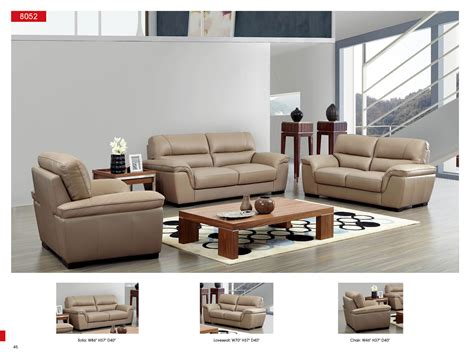 Wohnzimmer Sofa Modern by 8052 Leather Sofa Esf Italmoda Furniture Store