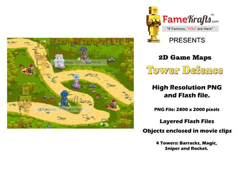 Game Map Pack 2d Tower Defense 2d Game Sprites