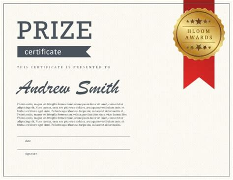 Prize Certificates Templates Free by 27 Printable Award Certificates Achievement Merit Honor