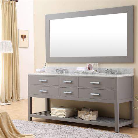 double sink mirrored bathroom vanity cadale 72 inch gray finish double sink bathroom vanity one