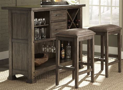 Bar Set by Brook Rustic Saddle 3 Bar Set From Liberty