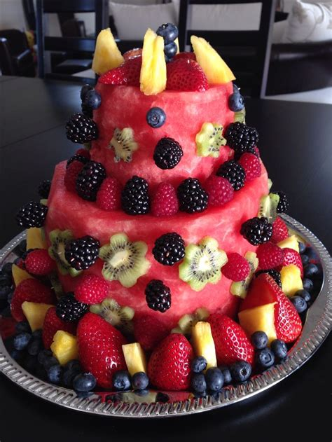 birthday creation watermelon fruit cake