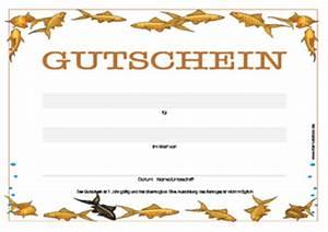 Gutschein Muster Geburtstag : gutschein 39 fische 39 vorlage muster zum ausdrucken ~ Markanthonyermac.com Haus und Dekorationen