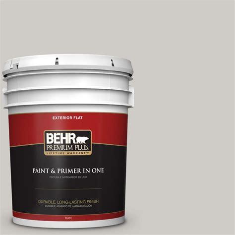 Behr Premium Plus 5 Gal #ppu2610 Chic Gray Flat Exterior