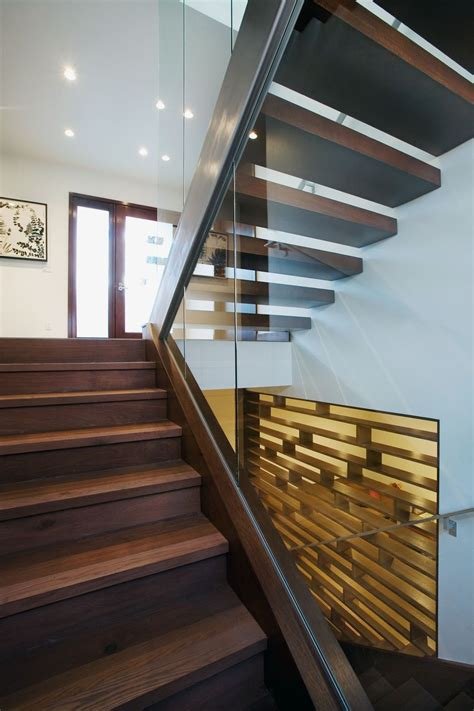 stairs  small contemporary house  swiss style design