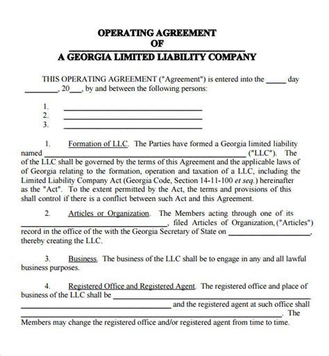 llc operating agreement template cyberuse