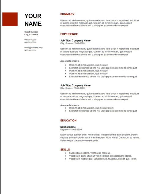 Great Resume Templates by Great Resume Template From Mba Admissions Advice