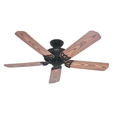 black outdoor ceiling fan shop hunter bridgeport 52 in textured black outdoor