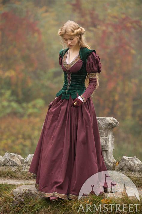 costume medieval de robe  corsage princesse perdue