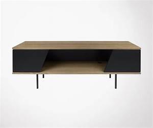 Meuble Tv Metal Noir : meuble tv moderne bois de noyer pieds m tal noir marque temahome ~ Teatrodelosmanantiales.com Idées de Décoration