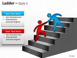 Corporate Ladder Hierarchy Style 1 Powerpoint Presentation Templates