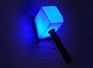 marvel avengers thor hammer mjolnir 3d deco wall led light fx room decor ebay