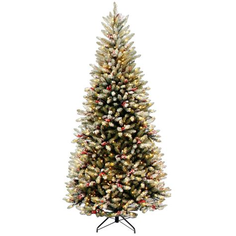 dunhill artificial tree corporation national tree company 7 5 ft powerconnect glenwood fir artificial tree with clear