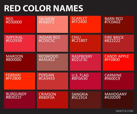 crimson color code color names graf1x