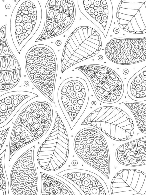 lizzie preston pattern colouring page  adults