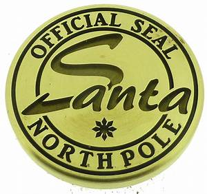 north pole seal clipart clipart suggest With santa letter with wax seal