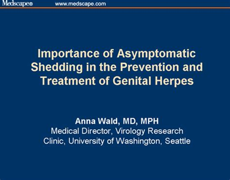 importance of asymptomatic shedding in the prevention and