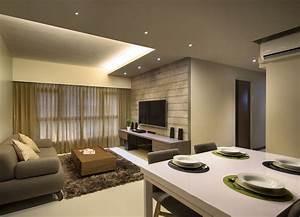 4 Room Flat Interior Design - Home Design