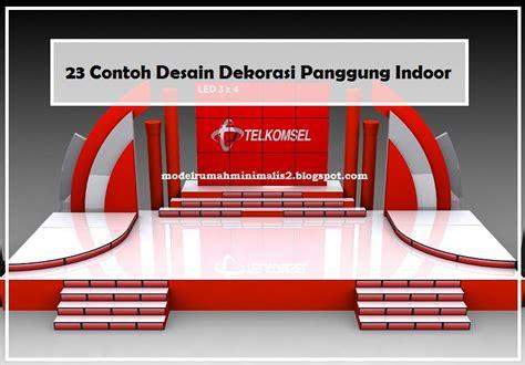 contoh desain dekorasi panggung indoor model desain