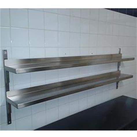 etagere de cuisine en inox etagère adossée réglable sur crémaillères matériel de