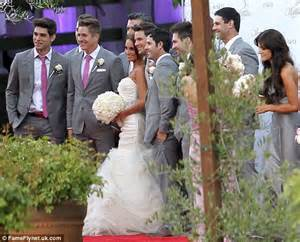 lazaro wedding dresses matt lanter 39 s wars inspired wedding to angela