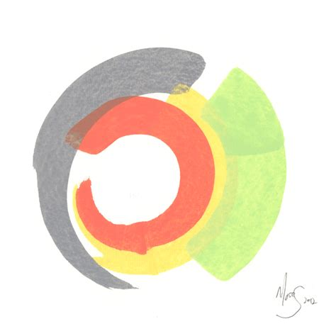untitled number 11 watercolor abstract modern circle color