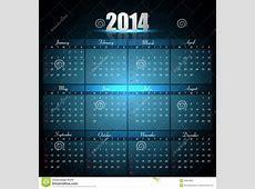 Beautiful Calendar For 2014 Template Stock Vector Image