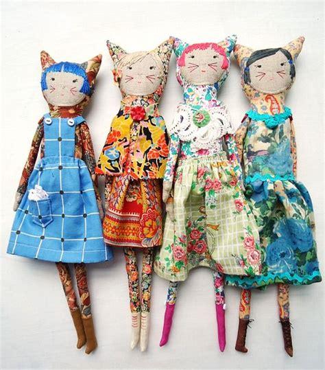 girls vintage liberty fabric dolls  modflowers
