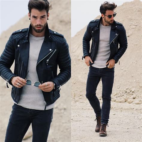 Bad boy style outfit | Menu0026#39;s Fashion | Pinterest | Moda masculina Chaquetas y Estilo