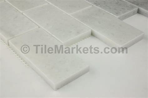 Tumbled Marble Subway Tile   TileMarkets®