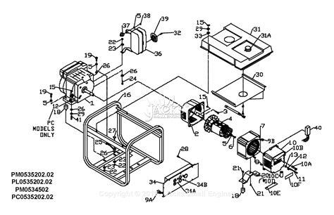 powermate  coleman pc parts diagram