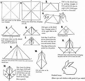 Origami Bunny Rabbits   How To Fold Origami Bunnies  U0026 Rabbits   Paper Folding Diagrams  U0026 Crafts