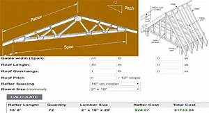 Sales Tax Formula Excel Roof Rafter Calculator Estimate Length And Costs Of Rafters