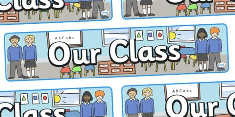 Our Class Display Banner  Welcome Banner, Our Class, Classes. Vintage Happy Banners. Dry Fingertip Signs Of Stroke. Army Decals. Button Decals. Gift Voucher Lettering. Card Decals. Russell Bazaar Murals. Masqati Logo