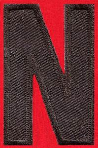 English alphabet letters black applique sew iron on patch for Sew on letters for clothing