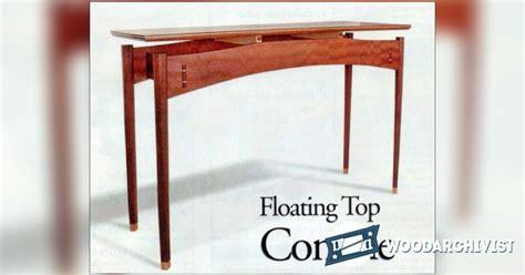 console table plans woodarchivist