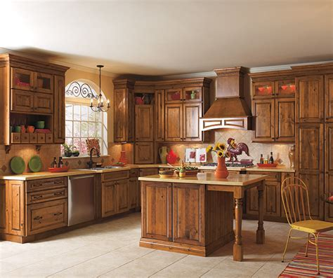 Rustic Alder Kitchen Cabinets   Diamond Cabinetry