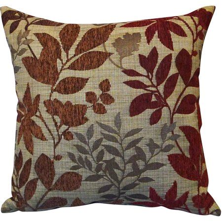 Throw Pillows For Walmart by Better Homes And Gardens Burgundy Leaves Toss Pillow