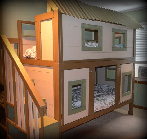 house bunk bed white treehouse bunk bed diy projects